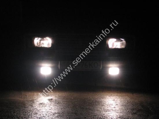 белый свет габаритов ВАЗ-2107