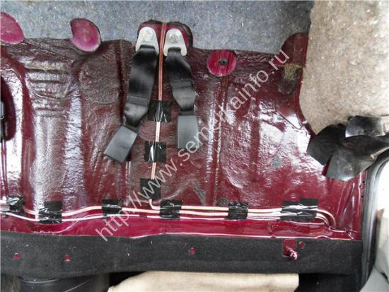 проводка под задними сидениями ваз-2107