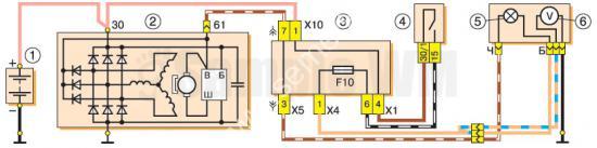 Схема подключения генератора 37.3701 на ВАЗ-2107