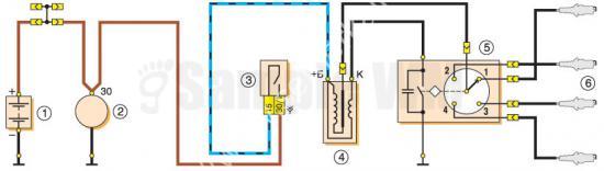 Схема Бесконтактной системы зажигания на ВАЗ-2107, 2105 и 2104
