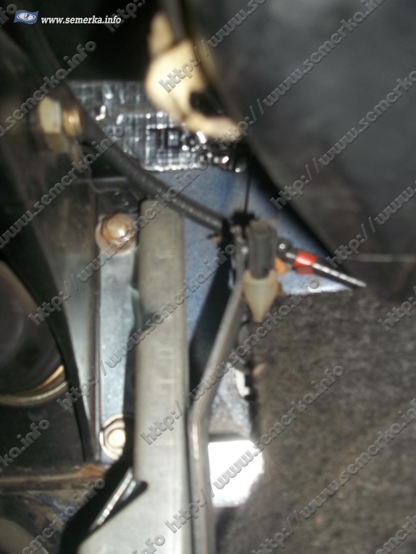схема привода педали газа газ 52
