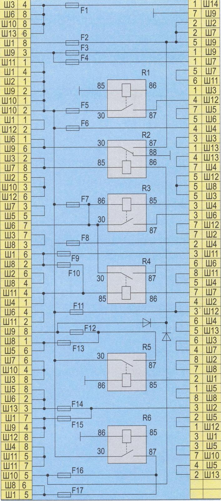 Электросхема стартера ваз 2107