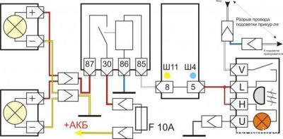 Схема включения противотуманных фар ваз 2107: http://maki.besplatno-skachat-dlja-windows.ru/Схема+включения+противотуманных+фар+ваз+2107