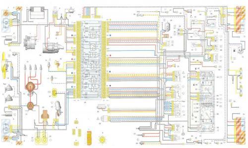 электросхема ваз 2107 Схема