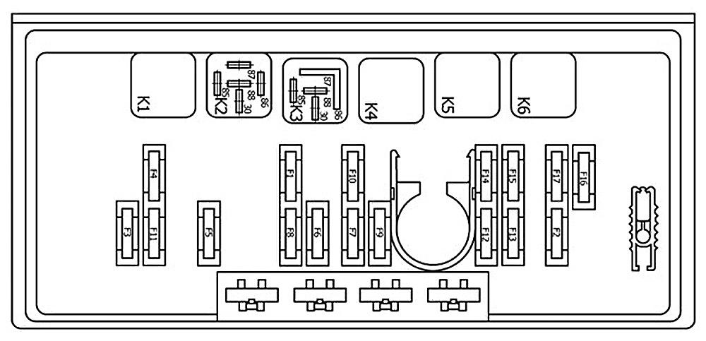 Блок предохранителей ваз 21053 схема