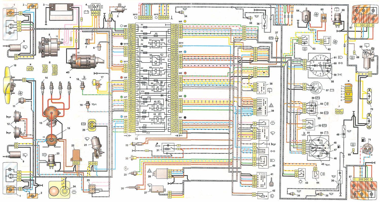 Схема электрики на ваз 2105