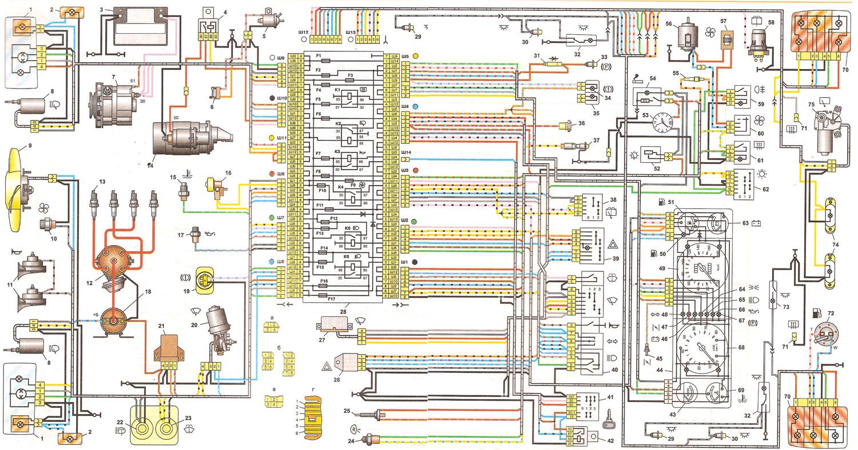 схема эл проводки ваз 2106