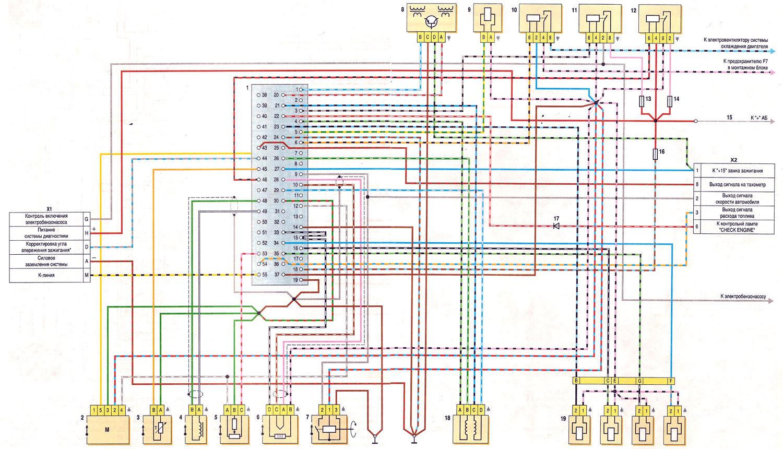 Схема подключения инжектора ваз 2107 фото 297
