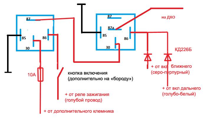 Фото №36 - схема подключения дхо на ВАЗ 2110