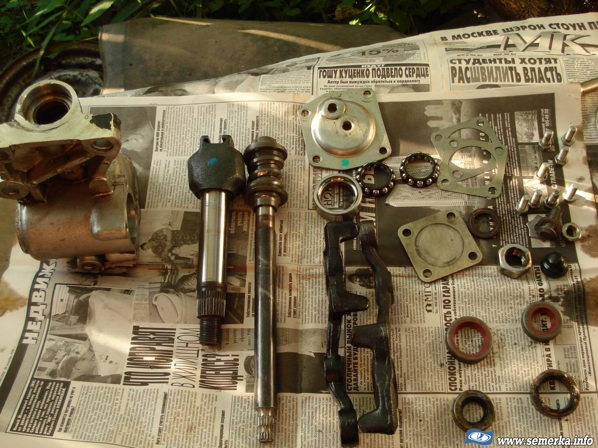Ремонт рулевого редуктора своими руками фото